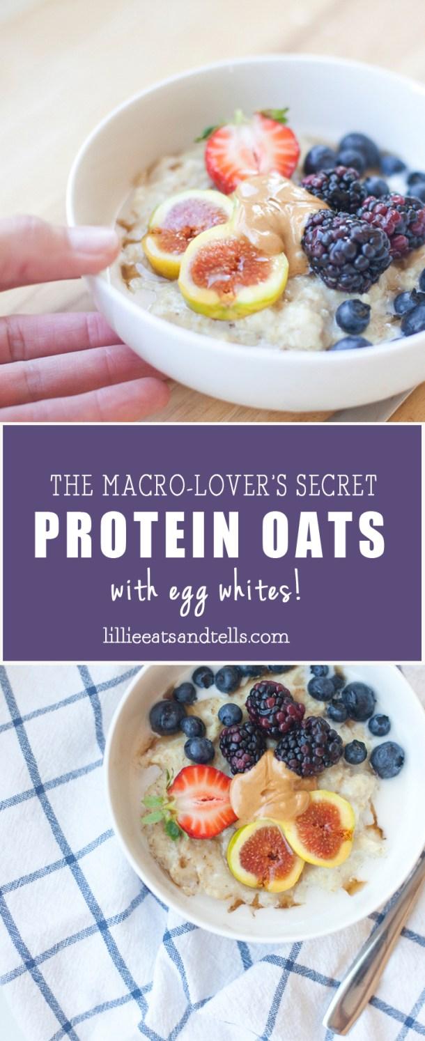 Protein Oatmeal with Egg Whites - www.liliieeatsandtells.com