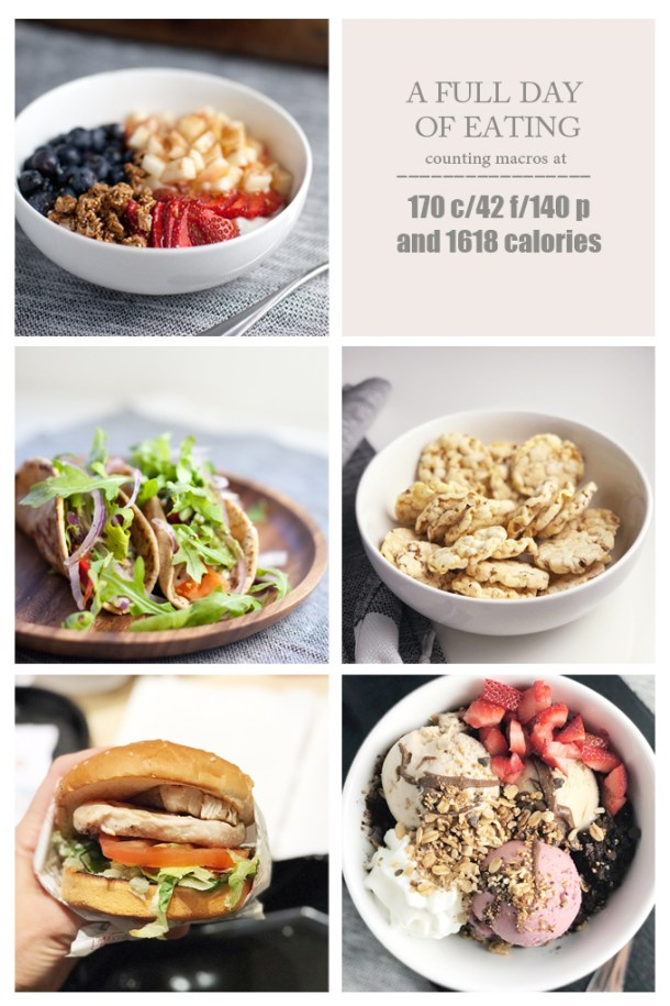 A full day of eating and tracking macros www.lillieeatsandtells.com