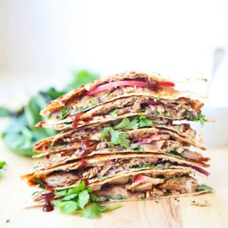 Macro Friendly BBQ Pulled Pork Lavash Quesadilla
