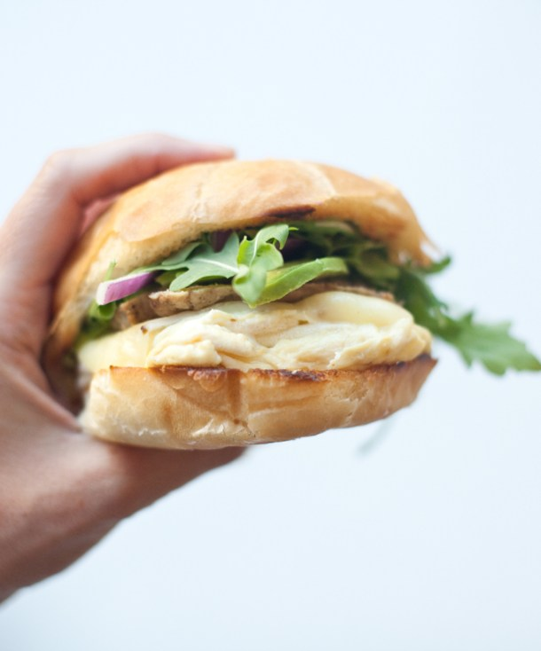 Egg Sandwich with Turkey Sausage and Lemon Garlic Aioli www.lillieeatsandtells.com