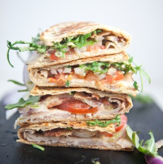Low Carb Turkey Pepperjack Panini with Chipotle Cream www.lillieeatsandtells.com