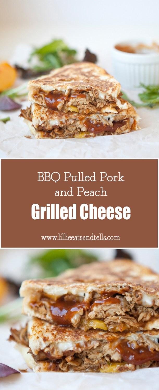 bbq pork and peach grilled cheese www.lillieeatsandtells.com