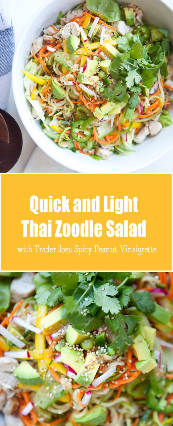 Quick and Light thai zoodle salad #macrofriendly #skinny #healthy