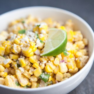 Mexican Street Corn Salsa #macrofriendly #skinny #light #healthy www.lillieeatsandtells.com