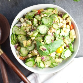 Sweet Summer Corn and Cucumber Salad