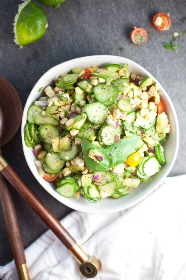 Sweet Summer Corn and Cucumber Salad - Lillie Eats and Tells