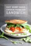 Chicken parmesan sandwich on a plate