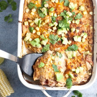 Creamy Green Chili Chicken Bake