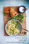 Easy Pickle Chicken Salad www.lillieeatsandtells.com