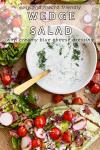 macro friendly wedge salad with macro friendly creamy blue cheese dressing recipe by www.lillieeatsandtells.com
