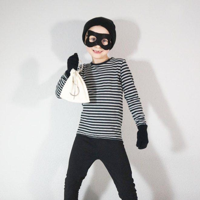 Bankräuber Kostüm selber machen / Lilli & Luke