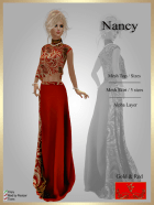 [LD] Nancy - Top & Skirt - Gold and Red xs
