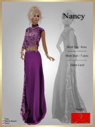 [LD] Nancy - Top & Skirt - Purple xs