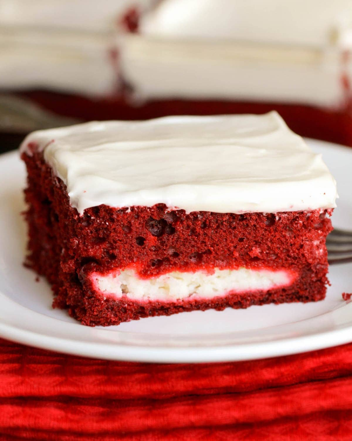 Red Velvet Cheesecake Cake Homemade Cream Cheese Frosting