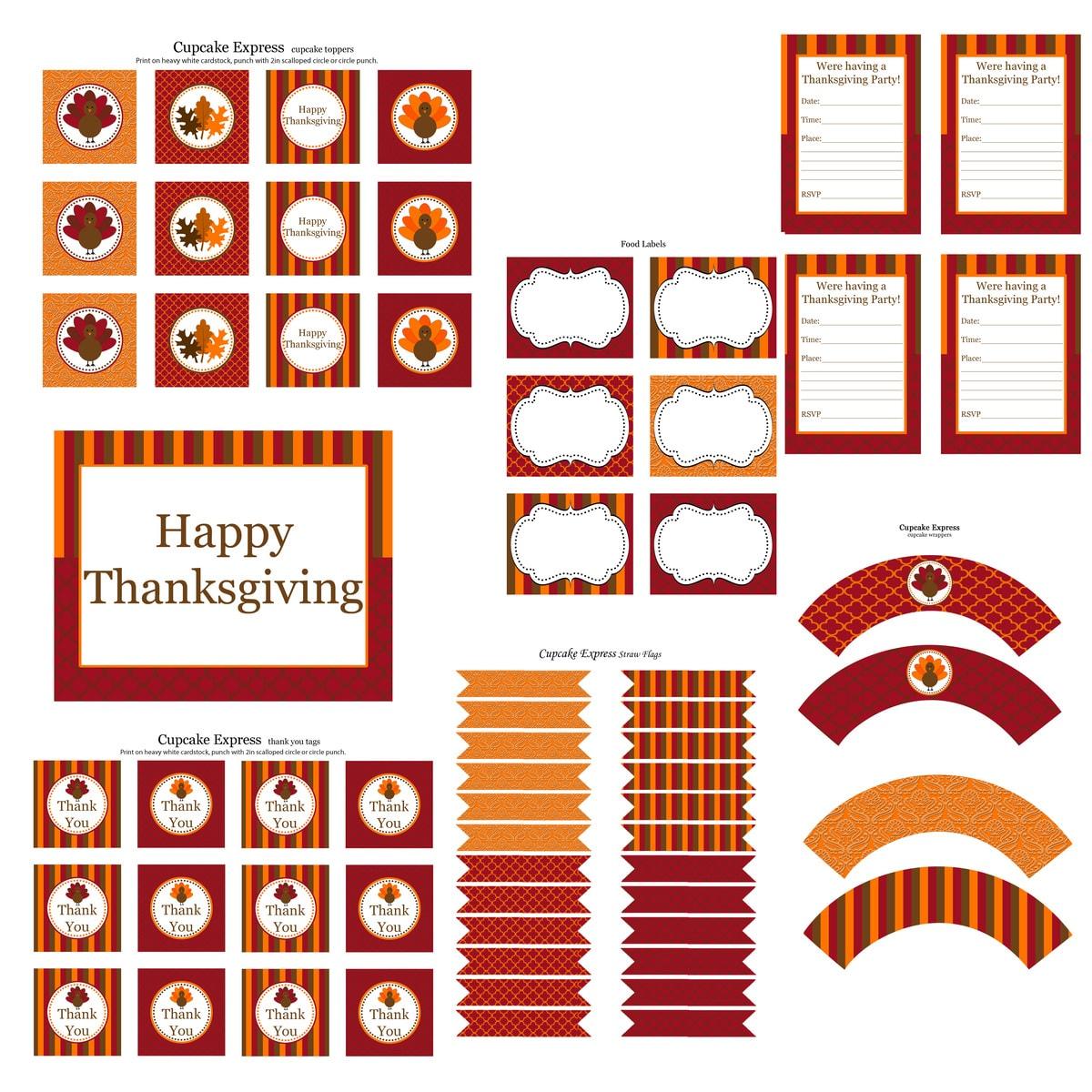 30 Thanksgiving Printables