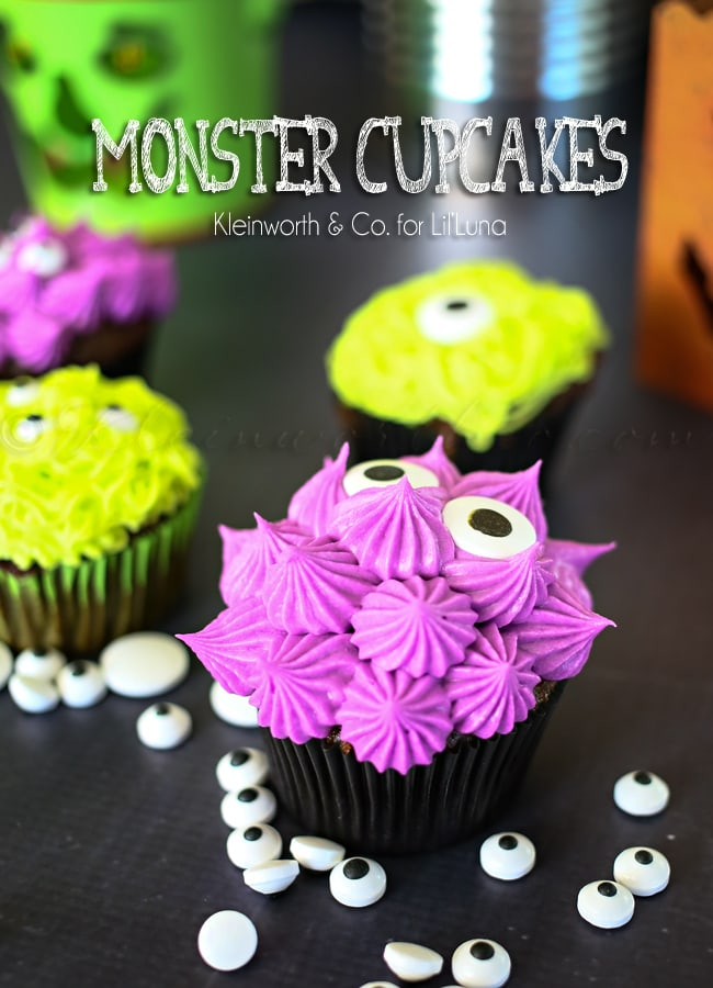 Monster Cupcakes, by Lil Luna