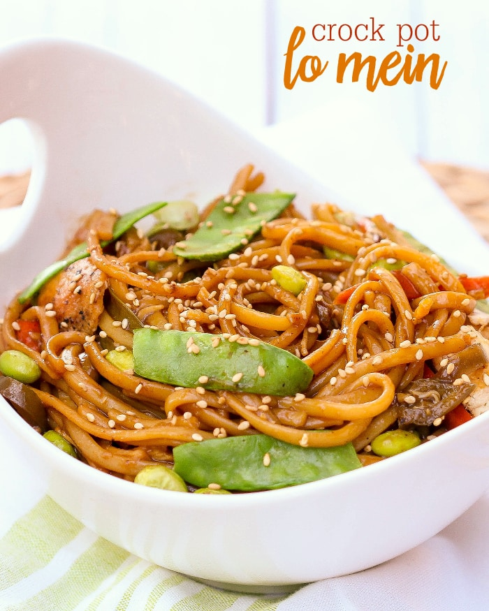 Slow Cooker Chicken Recipes, crock pot chicken lo mein