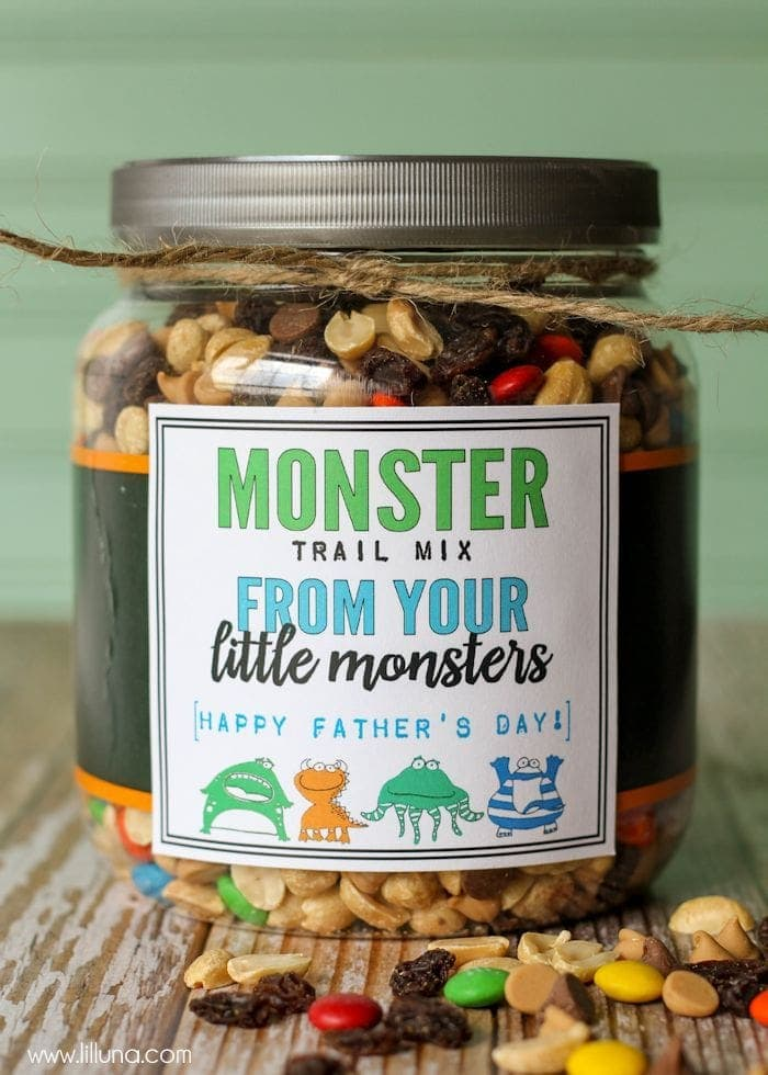 Monster Trail Mix Fathers Day Gift
