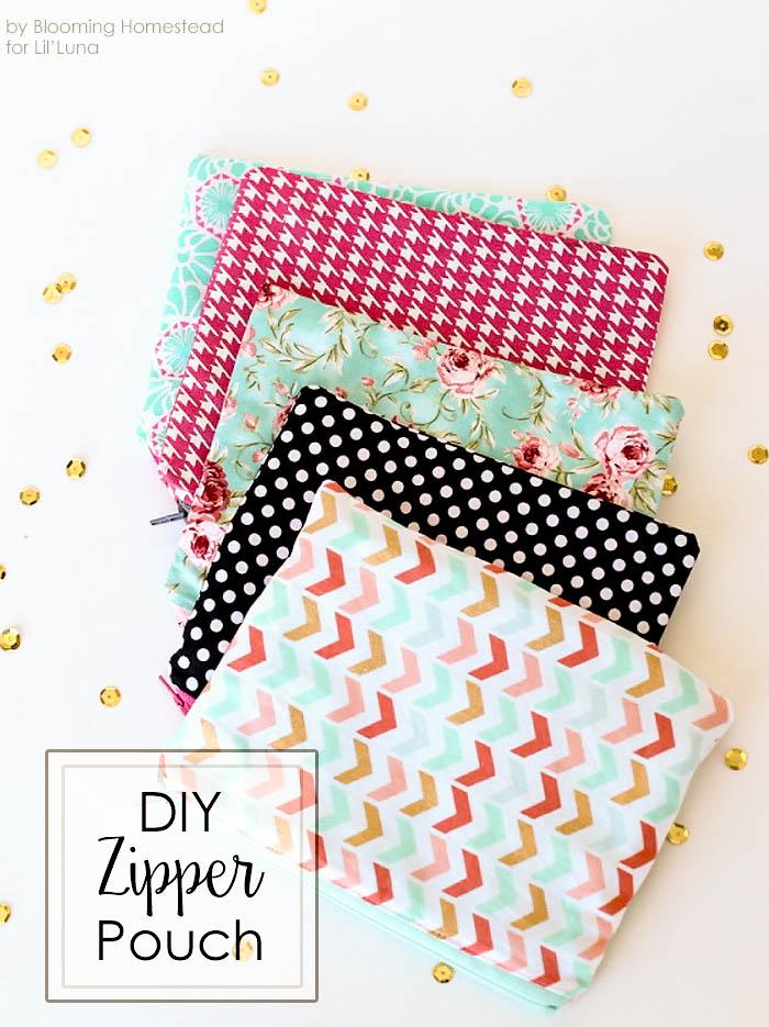 DIY Zipper Pouches