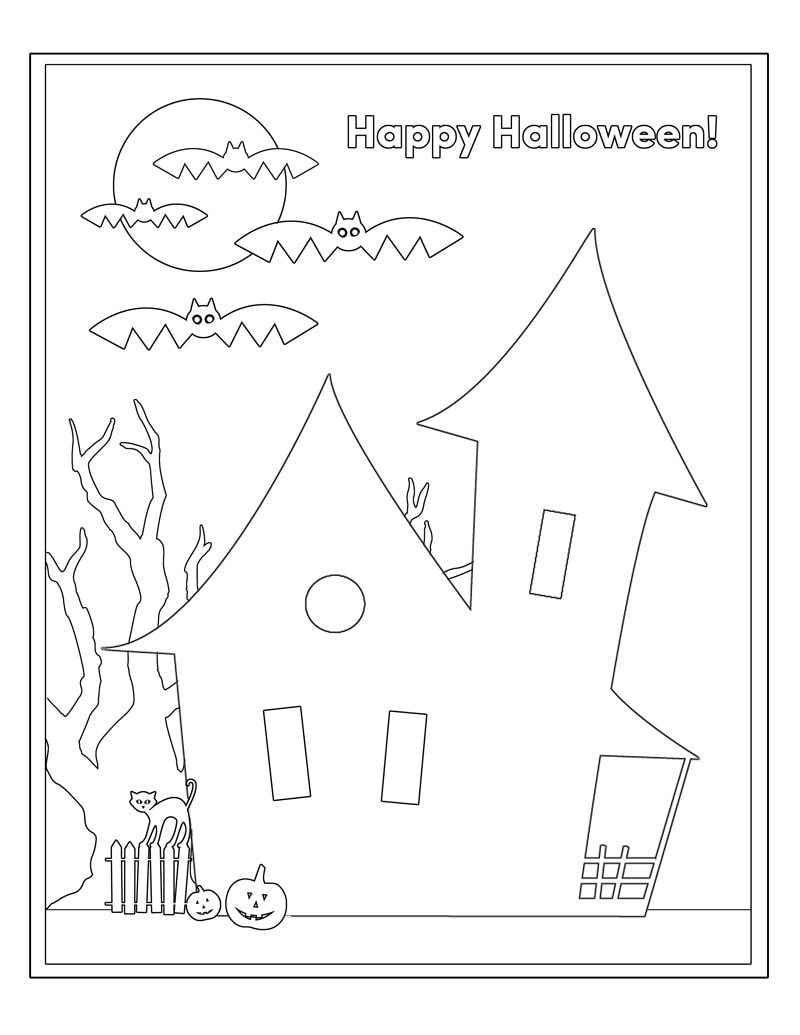 Free halloween coloring pages, i love mom coloring page