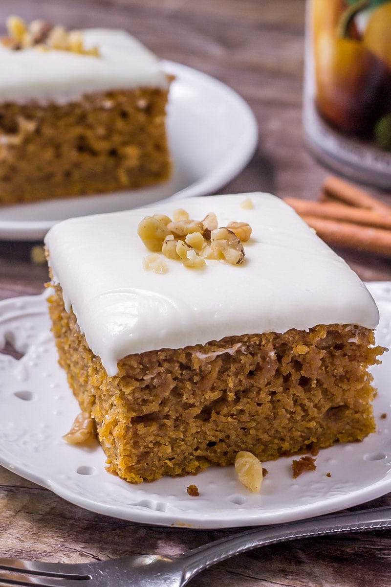 Best Pumpkin Cake With Cream Cheese Frosting Lil Luna