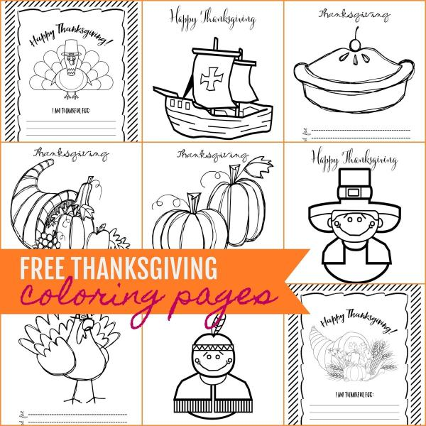 thanksgiving color pages free # 14
