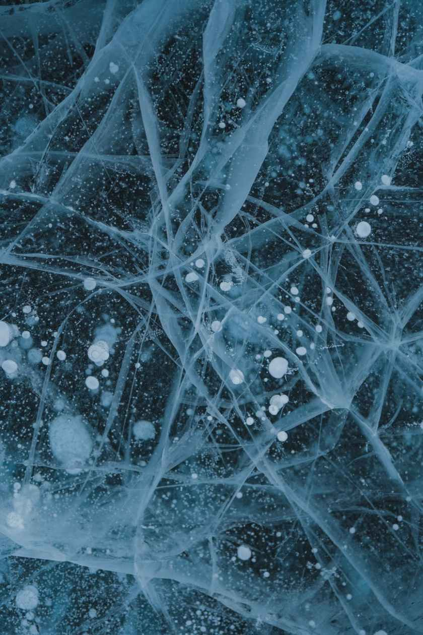 abstract background of icy lake with wavy surface