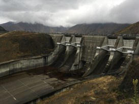A rather moody looking Benmore Dam