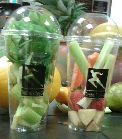 Fruit and veg in Dream fitness cups