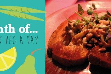 fancy mushrooms on toast