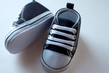Baby shoes - week 9 telling the family - the bump diaries