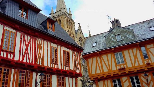 centro storico vannes bretagna francia