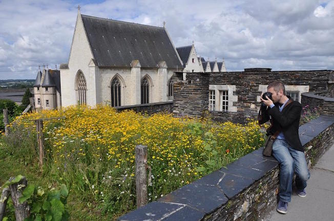 giardini interni castello angers francia