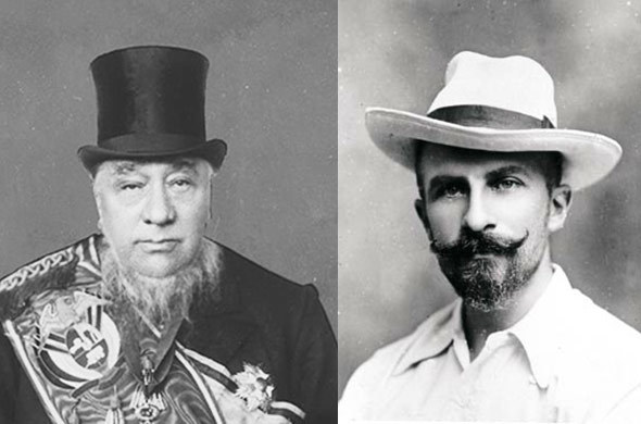 Paul Kruger and James Stevenson Hamilton