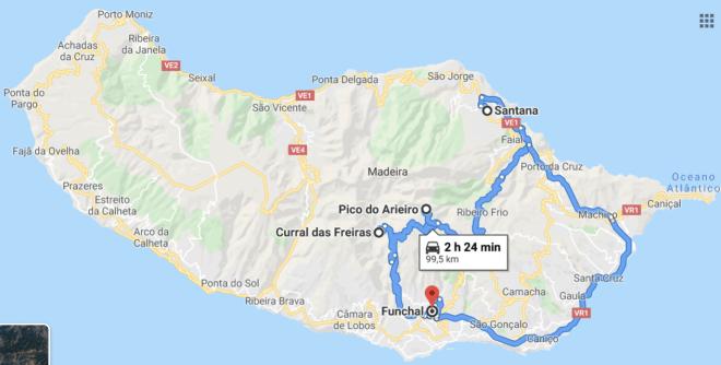 possibile itinerario di visita madeira