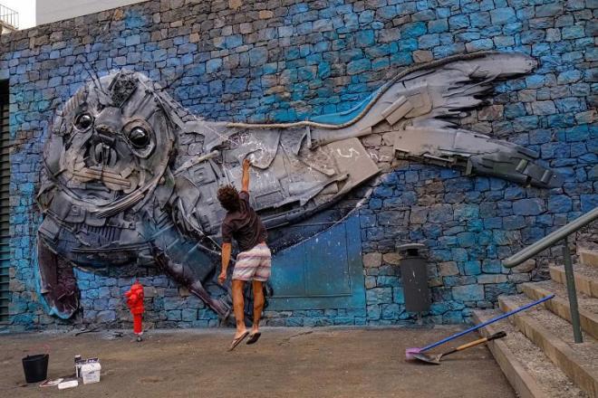 street art madeira bordalo II