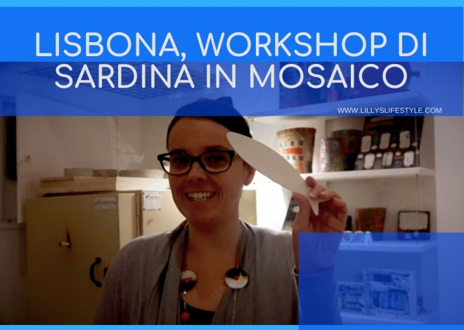 Lisbona, workshop di sardina in mosaico