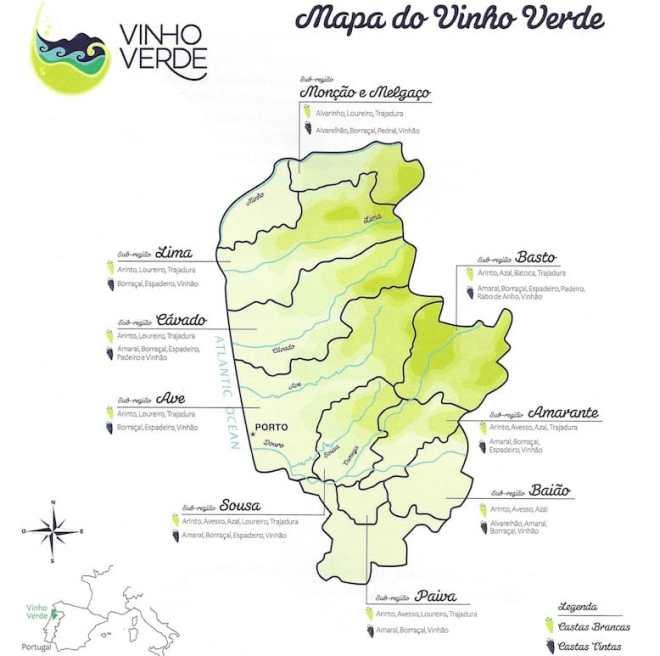 vino verde nord portogallo