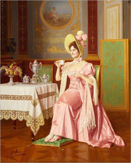 ora del tè nell'arte