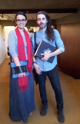 Con l'artista Edgar Martins