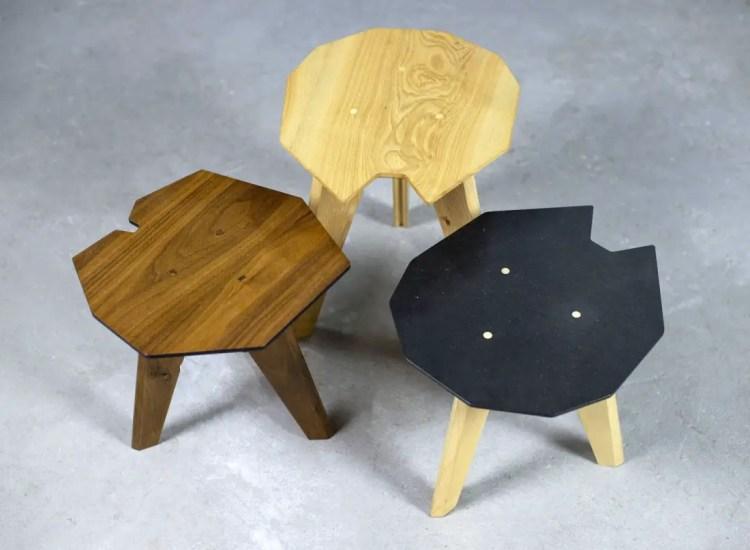 Table d'appoint sur-mesure en bois
