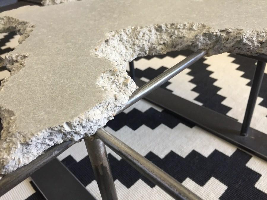 Table basse béton plein