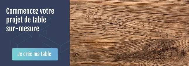 Projet table en bois