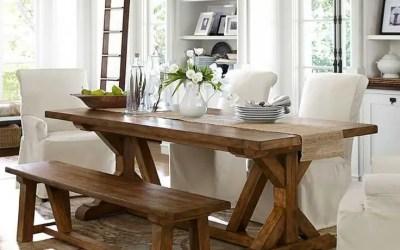 Table de ferme, table monastère : la table rustique à la cote