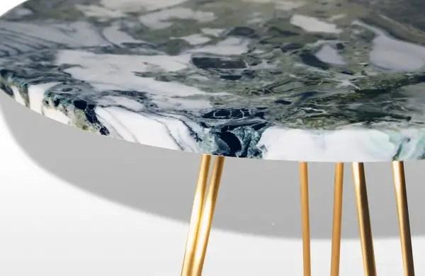 Table basse en onyx vert