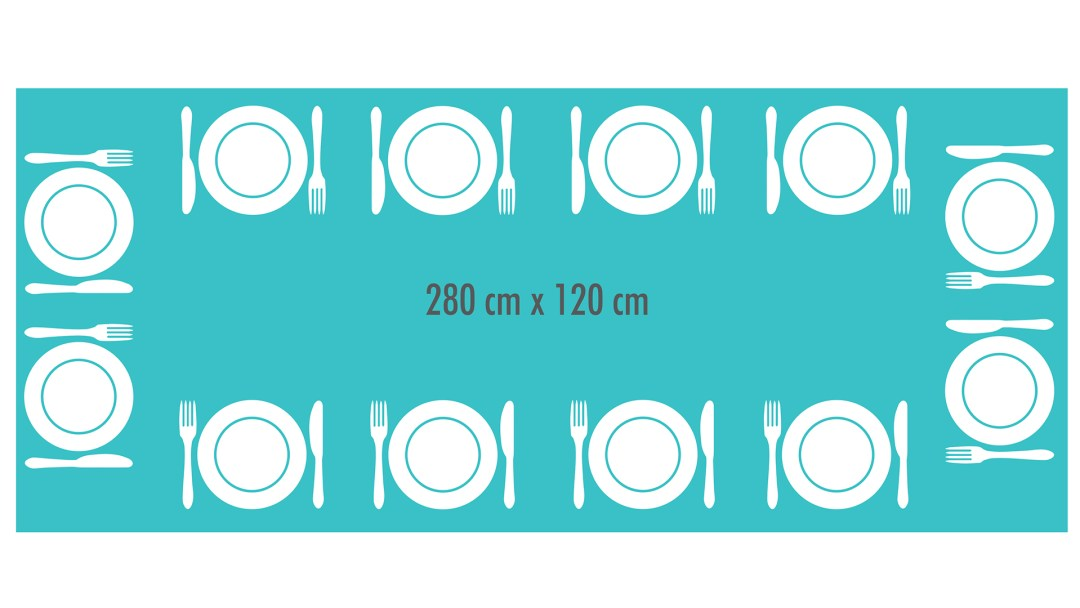 dimensions pour une table à manger de 12 personnes