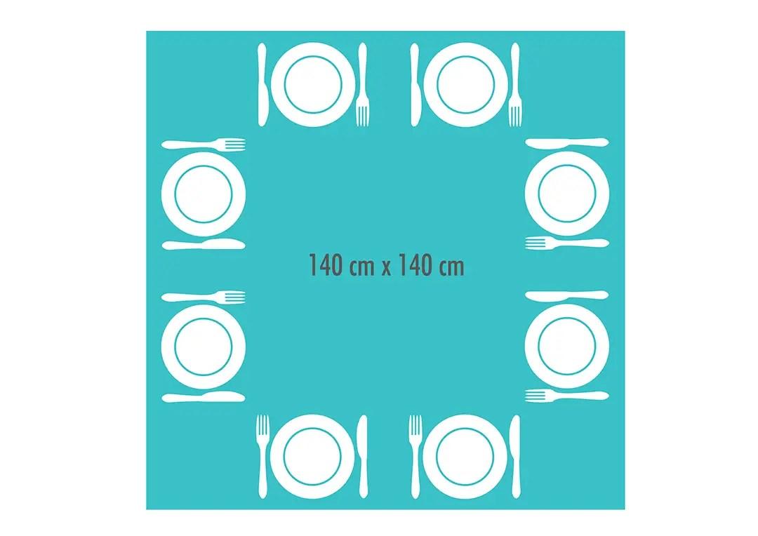 exemple de dimensions pour une table à manger carrée