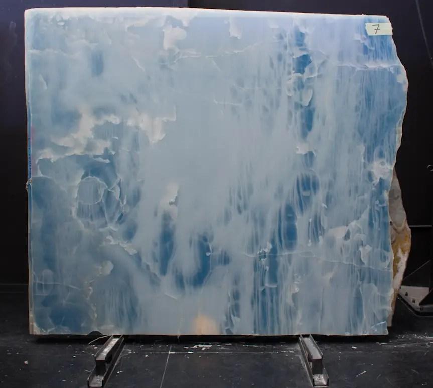 Plaque d'onyx marbre bleu