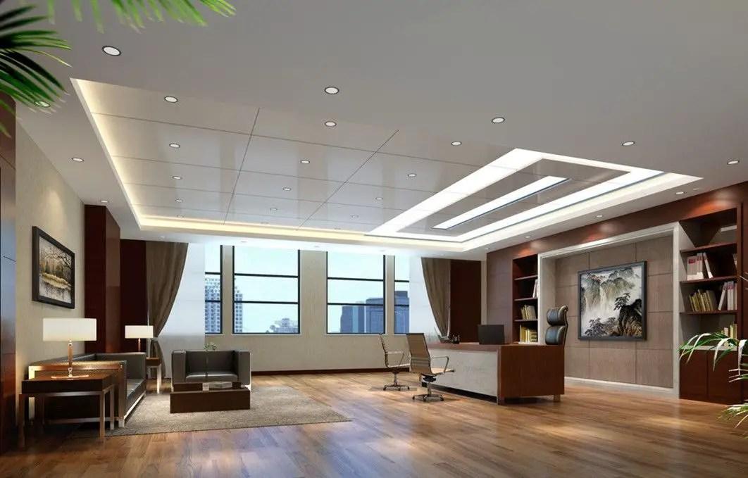 Un grand bureau design au style minimaliste épuré