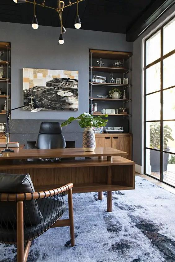 Alliance du moderne et du rétro dans ce magnifique bureau design